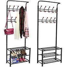 Shoe And Coat Rack Beauteous Amazon World Pride Metal Multipurpose Clothes Coat Stand