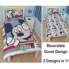 ... Disney Mickey Or Minnie Mouse Single Junior Duvet Cover Sets Kids Photo  With Remarkable Bedding For ...