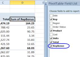 Excel Pivot Table Calculated Field