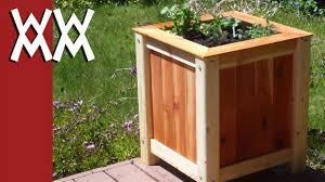 easy inexpensive wood planter box