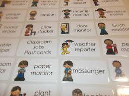 4th Grade Classroom Job Chart Details About 23 Classroom Jobs Flash Cards Preschool Thru 4th Grade Responsibility Flashca
