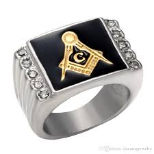 stainless steel three colors free mason