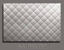 Ch&agne Sheet Metal: STAINLESS STEEL QUILTED STOVE BACKSPLASH & A awesome addition to any kitchen is this hand quilted stainless steel back  splash. Standard size is 32