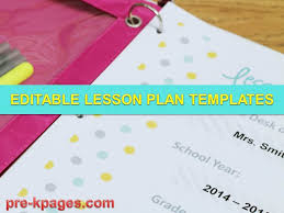 downloadable lesson plan templates printable lesson plan templates youtube