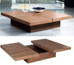 modern coffee table with storage plans decorations