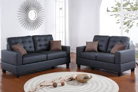 coolidge f7855 black modern sofa and loveseat set