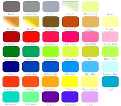 Cardinal Powder Color Chart Coral Paint Color Chart Click On Image To Enlarge Home