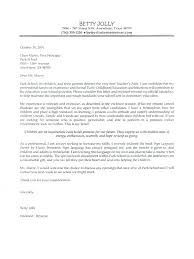 Sample Pre School Teacher Cover Letter Christian Teacher Cover