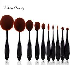new arriveral tooth brush shape oval makeup brush set professional foundation powder brush kits high quality makeup brush set wow brush kit oval tooth brush