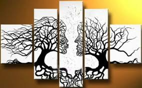 Decorations:Interior Design Canvas Wall Art On Home Library Room Ideas  Canvas Tree Art On