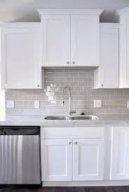 Gray Glass Subway Tile Kitchen Backsplash Rapflava