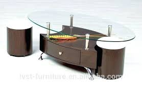 high quality wooden center table modern wood center table for living room with glass