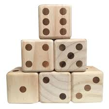 Wooden Yard Games Triumph Sports USA Wooden Lawn Dice100100 The Home Depot 50