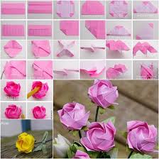 How To Make Origami Paper Flower Diy Origami Kawasaki Rose Origami Flowers Origami Rose