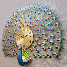 peacock wall clocks large peacock home