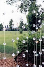 garden party decorations by a