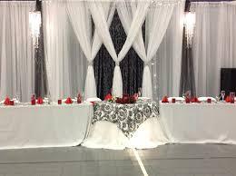 az wedding decor backdrop black white