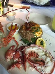 Chart House Maine Live Maine Lobster With Loaded Potato Picture Of Chart