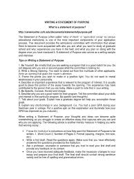 writing a statement of purpose pdf graduate school essays