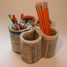 phone book pencil holder