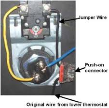 how to select and replace thermostat on electric water heater Geyser Thermostat Wiring Diagram use push on wire connectors when wires are too short buy push on wire connectors at amazon geyser element wiring diagram
