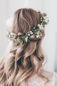 Wedding Hair Inspiration With Flower Crown Wedding Hair