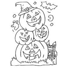 Cute Halloween Pumpkin Coloring Pages 2165760