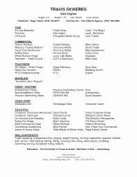 Acting Resume Templates Google Docs Acting Resume Template Best Of 100 Inspirational Google 38