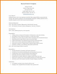 Word Document Resume 38648 Densatilorg