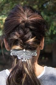 Oberon Design Hair Clips Hair Clip Barrette Art Nouveau Leaf 80mm