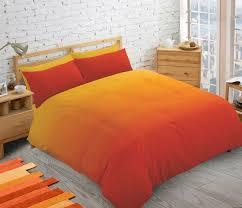 orange 2 tone fade teenager kids boys girls duvet quilt cover set plain colour bedding 12866 p jpg