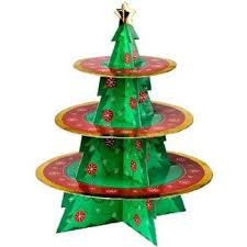 Christmas Tree Display Stands Tree Display Stand with 100 Round Trays 2