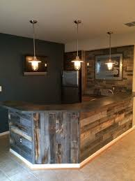 Reclaimed Weathered Wood More Wood Walls Ideas - Unfinished basement man cave ideas
