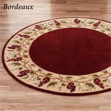 bordeaux border round rug