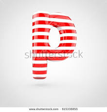 bubble letter p striped red white glossy letter p stock illustration 615338855