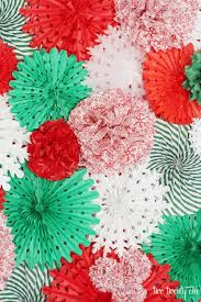 how to make a tissue paper pom pom and fan backdrop great step by step