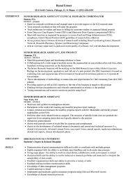 Senior Research Assistant Resume Samples Velvet Jobs Project Paper