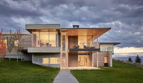 modern house. A Modern House Accentuates Sensational Wyoming Landscape L
