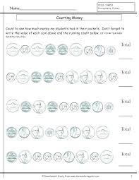 Coin Worksheets Kindergarten Best Of County Penny For Free Counting ...