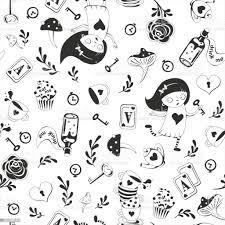 Cute Black Seamless Pattern With Key ...