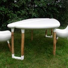 organic design table resin fiberglass garden tripode
