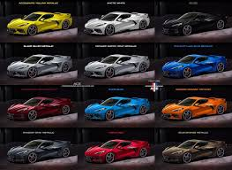 Color Options On The New C8 Corvette Corvette Corvette