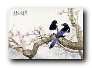 <b>Набор для вышивания Xiu</b> Crafts 2800101 Blue Magpies on Plum ...