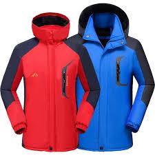 autumn winter plus velvet thickening jacket men women large size waterproof and windproof womens outdoor warm
