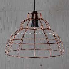 Wire Pendant Light Industrial Vintage Metal Wire Pendant Light Cafe Bar Cage Lighting