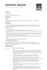 Business Process Manager Resume Sample Best Of Service Delivery Manager Resume Samples VisualCV Resume Samples