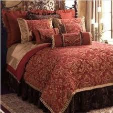 8pc Modern Embroidered Red and Brown Comforter Set | Comforter ... & 8pc Modern Embroidered Red and Brown Comforter Set | Comforter sets, Luxury  bedding and Brown comforter Adamdwight.com