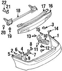 Body hardware rear bumper bumper and ponents
