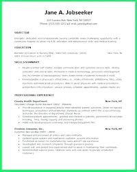 Resume Objective Examples Fascinating Rn Resume Objective Examples New Grad Resume E Examples For Students