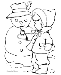 Small Picture Snowman coloring picture 011